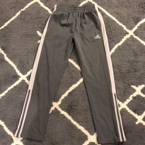 Two tone gray adidas Track pants